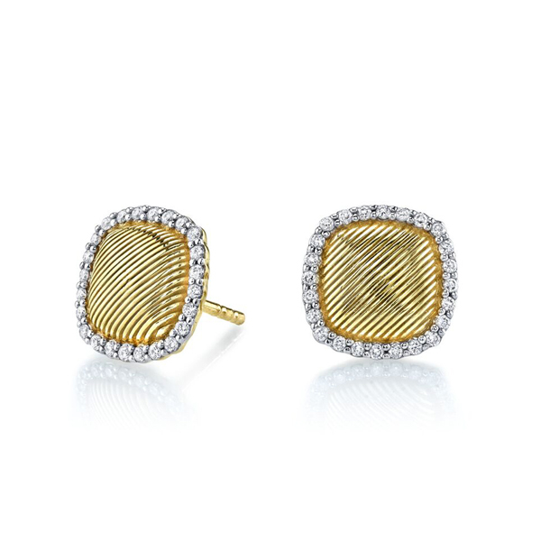 SLOANE STREET Diamond Stud Earrings photo