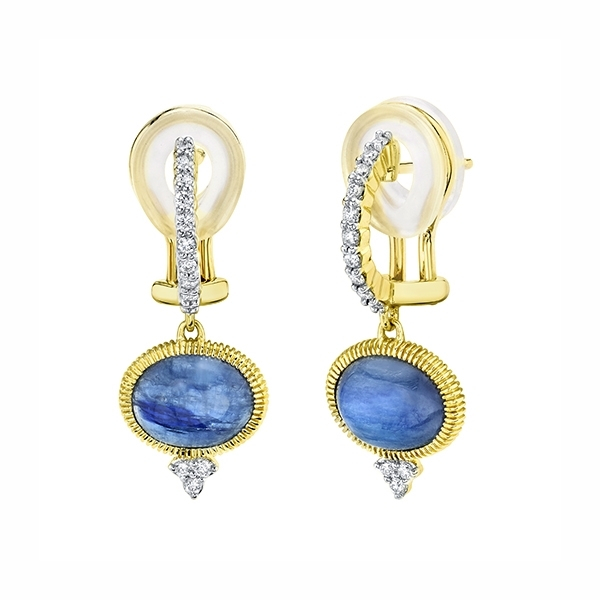 SLOANE STREET Kyanite & Diamond Earrings photo