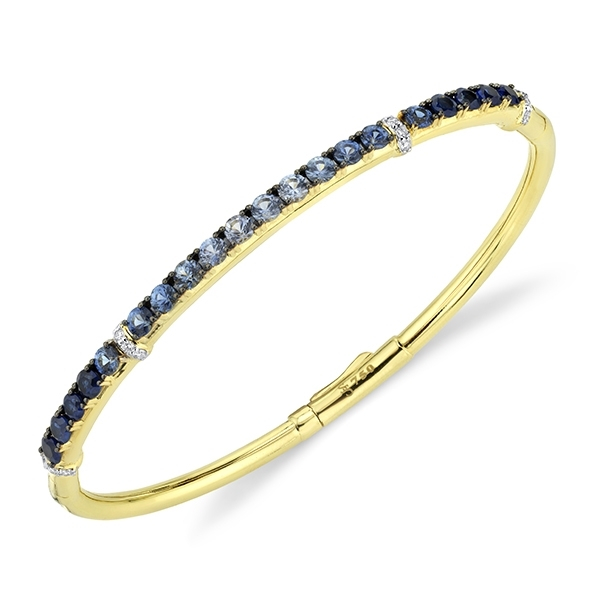 SLOANE STREET Sapphire & Diamond Bangle photo