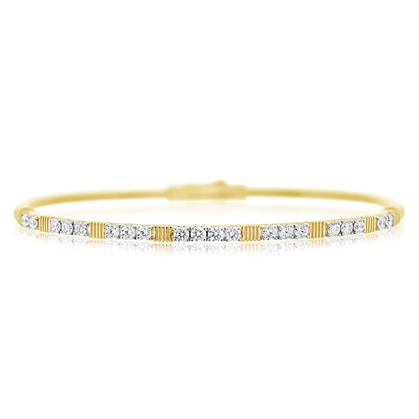 SLOANE STREET Strie Diamond Bangle photo
