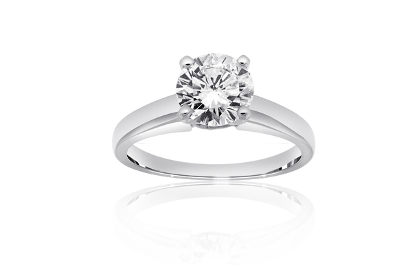 Solitaire Diamond Engagement Ring photo