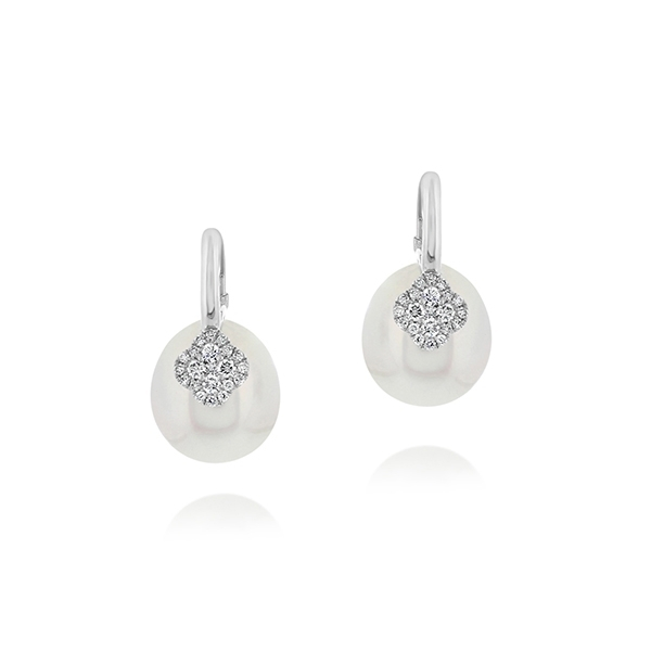 South Sea Pearl & Diamond Earrings photo