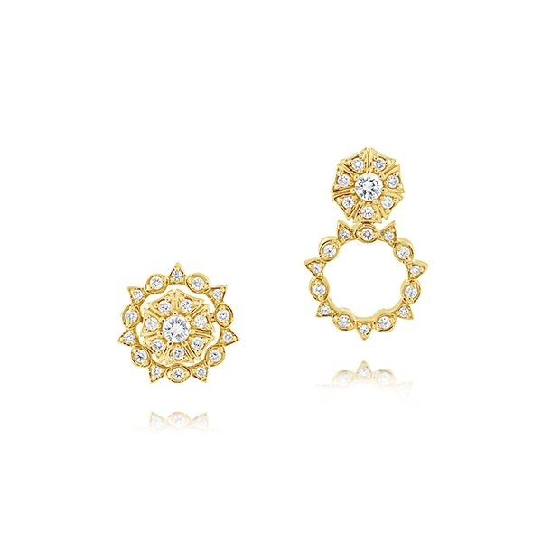 Sun Star Diamond Pirouette Earrings photo