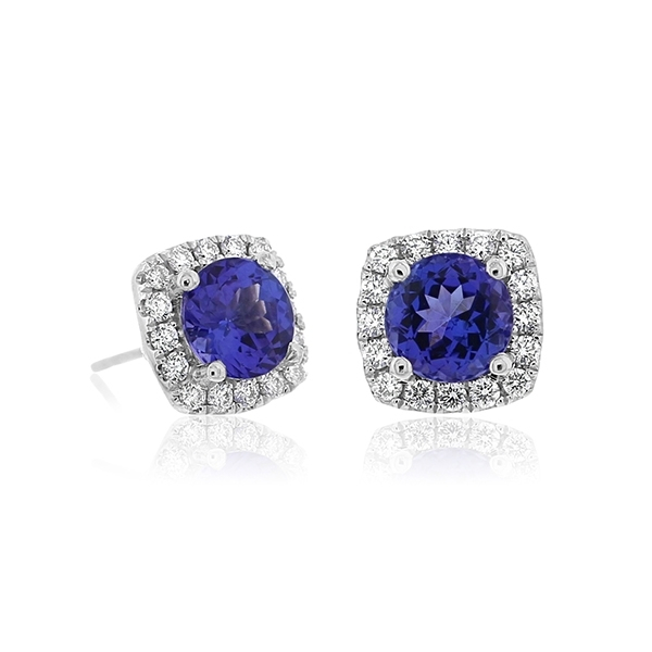 Tanzanite & Diamond Earrings photo