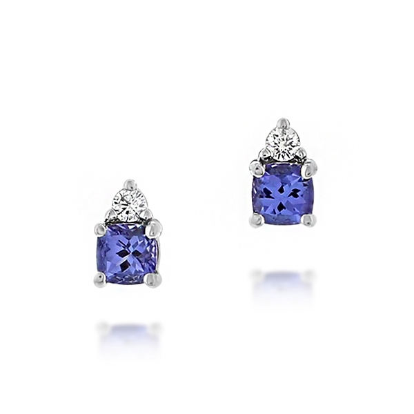 Tanzanite & Diamond Studs photo