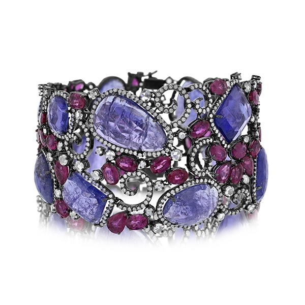 Tanzanite, Ruby & Diamond Bracelet photo