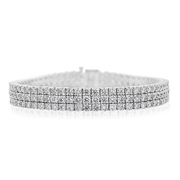 Three Row Diamond Bracelet photo