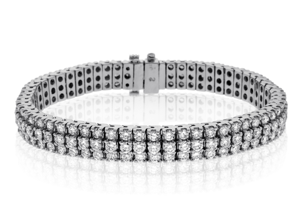 Three-Row Diamond Bracelet photo