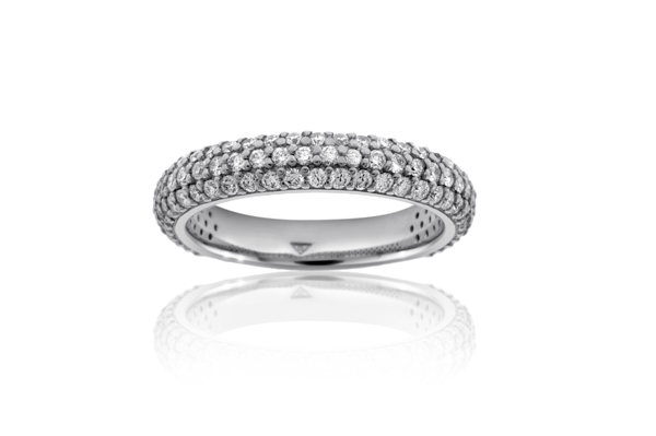 Three Row Diamond Wedding Band photo