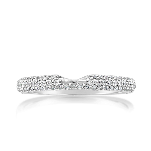 Three-Row Diamond Wedding Band photo