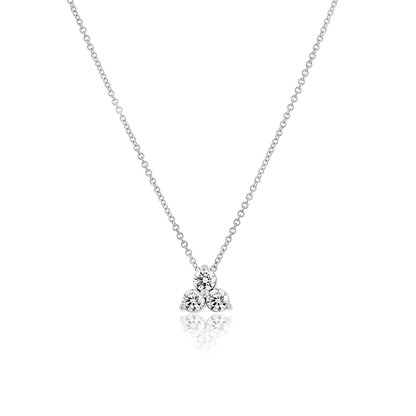Three-Stone Diamond Necklace photo
