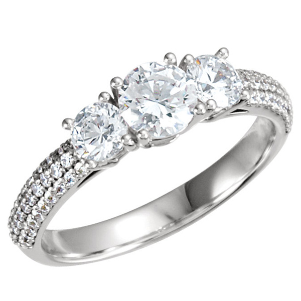 Three Stone Diamond Ring photo