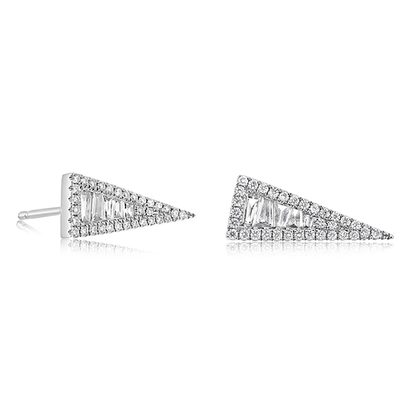Triangle Diamond Earrings photo