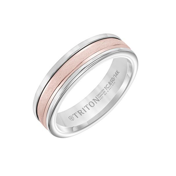 TRITON Two-Tone Wedding Band photo