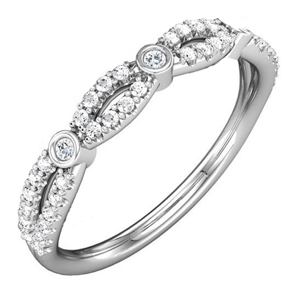 Twisted Diamond Wedding Band photo