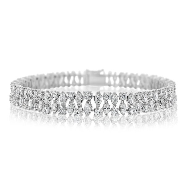 Two Row Diamond Bracelet photo