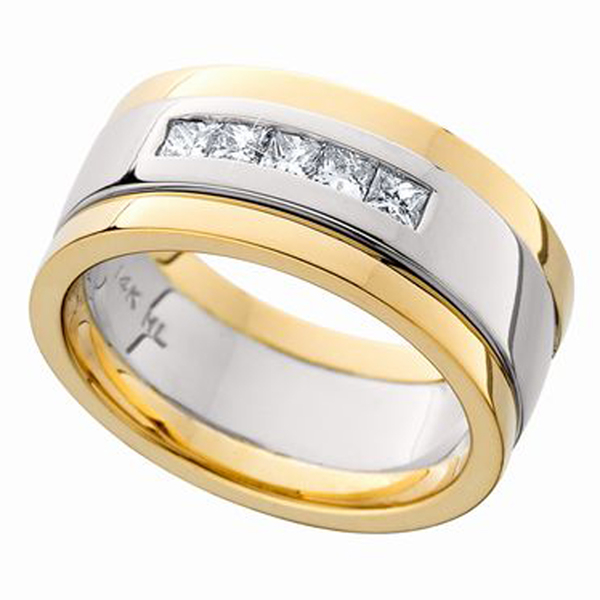 Two-Tone Diamond Wedding Band photo