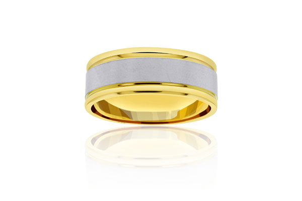Two-Tone Wedding Band photo