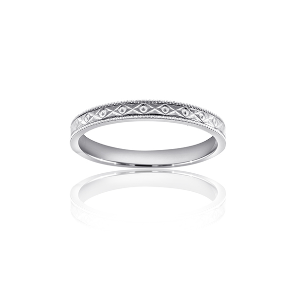 White Gold Comfort Fit Wedding Band photo