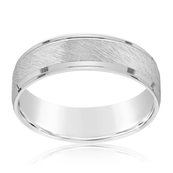 White Gold Men's Wedding Band  photo