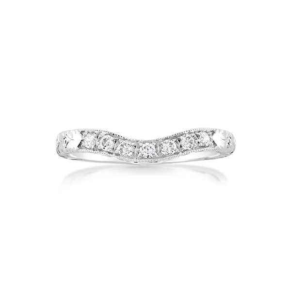 WHITEHOUSE BROTHERS Diamond Contour Wedding Band photo