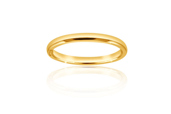 Yellow Gold Wedding Band photo
