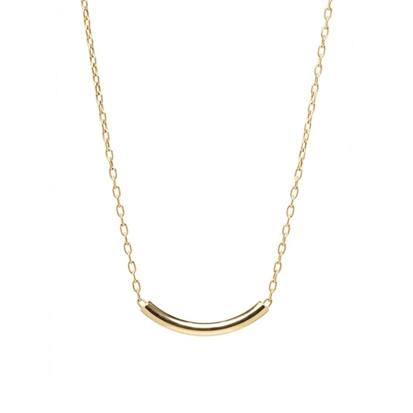 ZOE CHICCO Curved Chubby Bar Necklace photo
