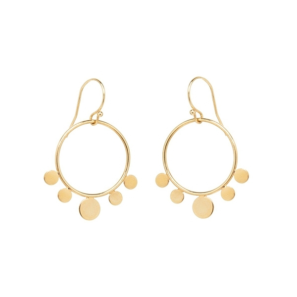 ZOE CHICCO Dangle Circle Disc Earrings photo