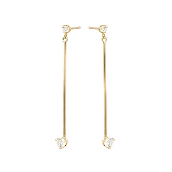 ZOE CHICCO Diamond Bar Drop Earrings photo