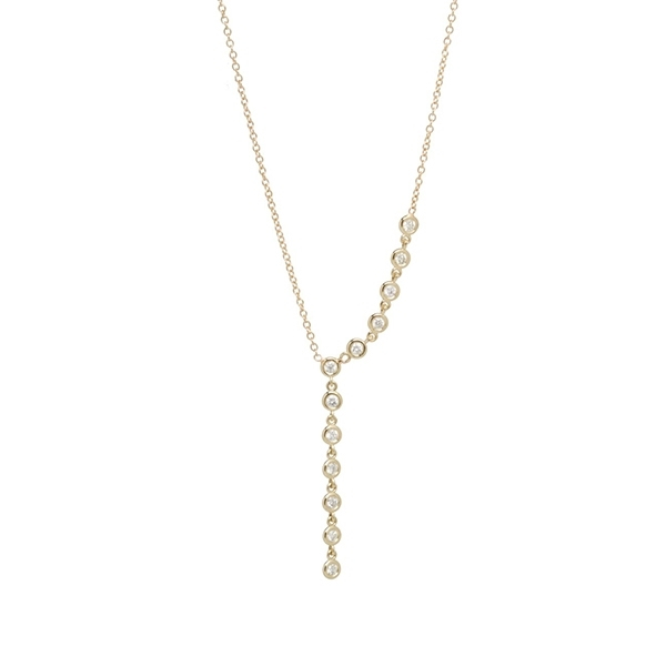 ZOE CHICCO Diamond Lariat Necklace photo