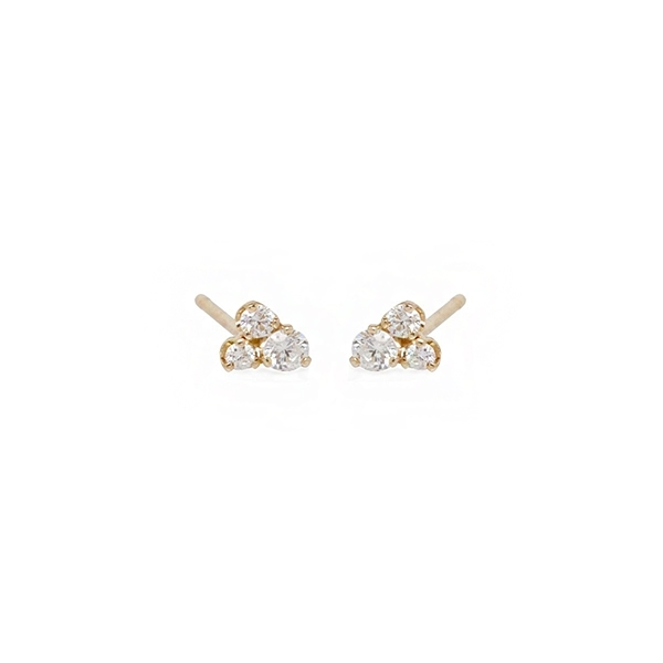 ZOE CHICCO Diamond Trio Stud Earrings photo