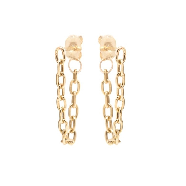ZOE CHICCO Small Link Chain Hoops photo